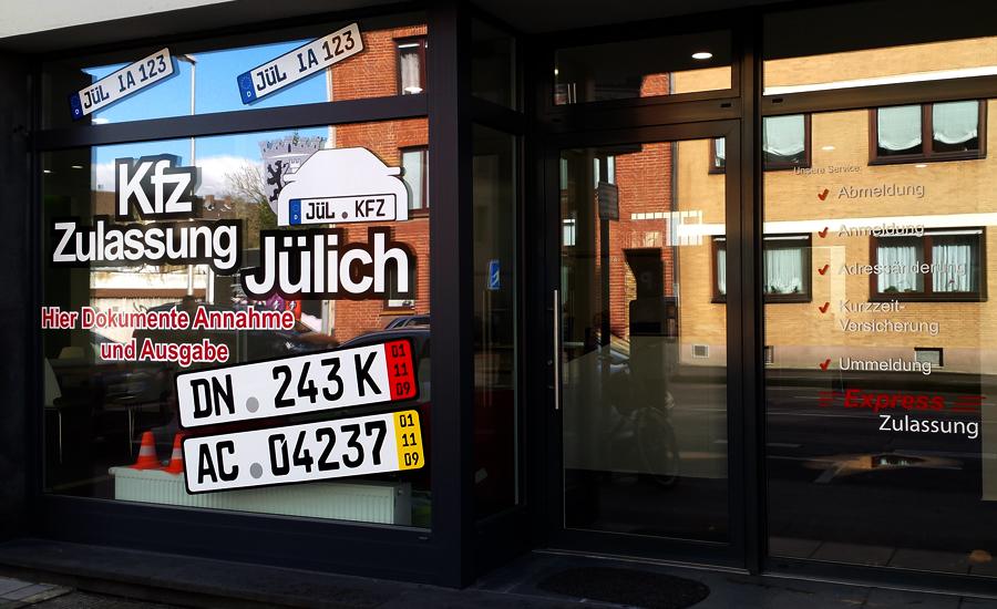 Schaufensterbeschriftung Jülich